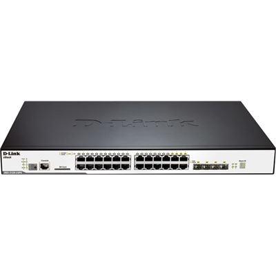 D-Link 24-Port SFP & 8-Port 10/100/1000Mbps Combo L2 Stackable Managed Switch