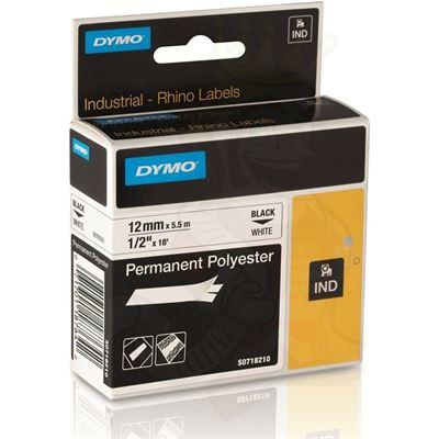 Dymo Rhino Perm Poly Tape White 12mm N/A No Media