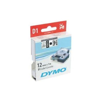 Dymo D1 Tape Black on White 12mm x7m