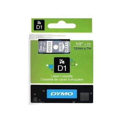 Dymo DSD45020 - Dymo Wht on Clr 12mmx7m Tape