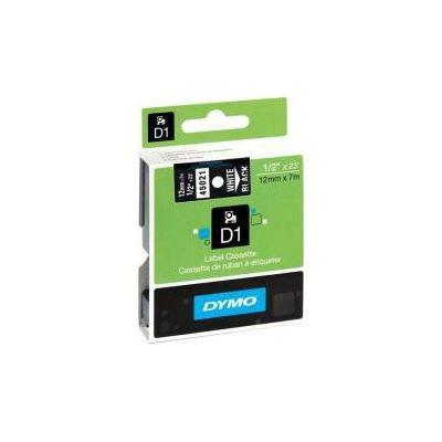 Dymo DSD45021 - Dymo Wht on Blk 12mmx7m Tape