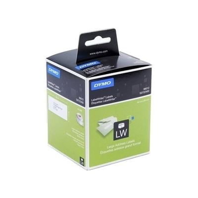 Dymo Large Address - Paper/White Size: 36mm x 89mm - 2 rolls/box. - 260 labels/roll