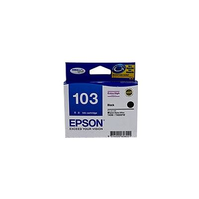 Epson 103 Extra High Capacity Black Ink Cartridge For Stylus T40W TX550W TX600FW