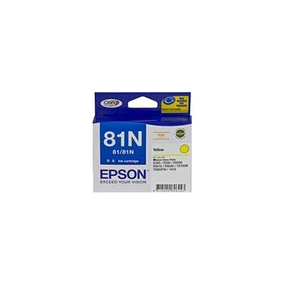 Epson 81N Yellow Ink Cartridge For Stylus Photo 1410, R290, R390, T50, RX590, RX610