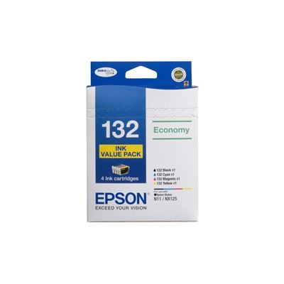 Epson T132 Value 4 Ink Pack for use with Stylus N11 & NX125