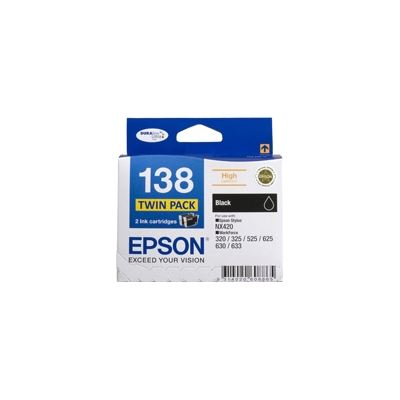 Epson T138 High Capacity Black Ink TWindows Pack for use with Stylus NX420 and