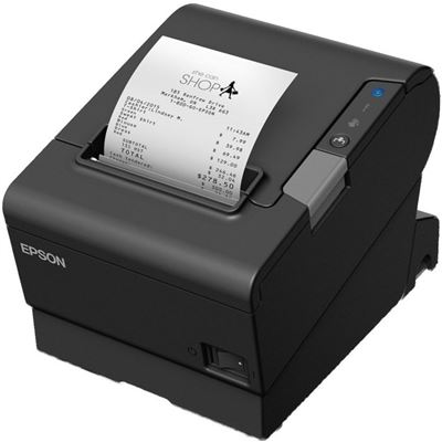 Epson TM-T88VI USB printer, Built-in Ethernet + Serial Comms Cable and AC Line Cord