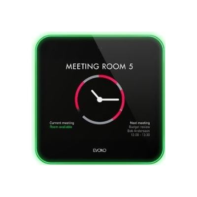 """Evoko Liso Room Manager. 8"""" display. Calender services support for Microsoft office"""