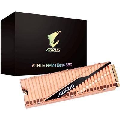Gigabyte Aorus M.2 PCIe NVMe Gen4 SSD 1TB - 3D NAND TLC 5000/4400 MB/s 750K/700K IOPS