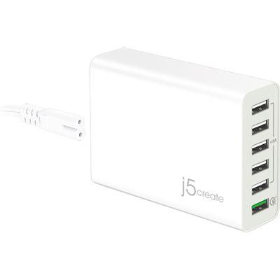 J5create 58W 6-Port USB QC 3.0 Super Charger