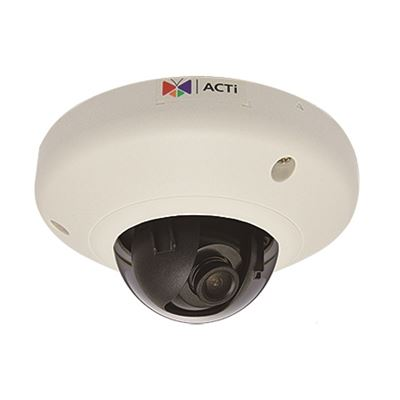 ACTi 5MP Indoor Mini Dome Camera, WDR, DNR, MicroSDHC/ MicroSDXC, PoE, IK08