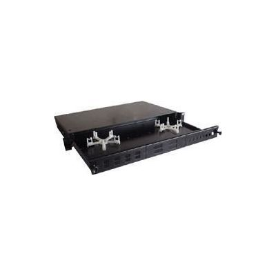 E-TEC 1U 24 Port Pull & Drop Fibre Tray and Accessory Front Panels (1U Fibre Tray)
