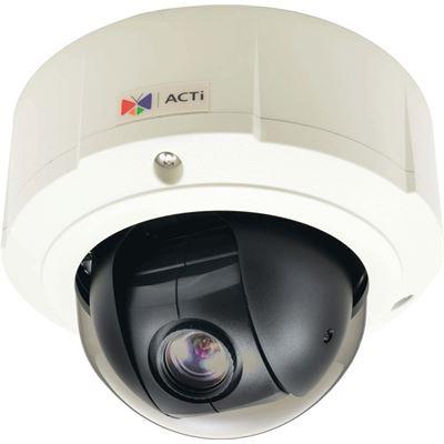 ACTi 2MP Indoor/Outdoor, Day/Night Mini PTZ Camera, WDR, 10x Zoom lens, DNR , Audio