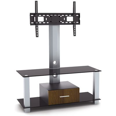 """Brateck Bretack Elegant Aluminum Wood and Glass TV Stand For most 32""""-55"""" LED; LCD"""