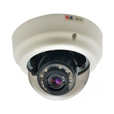 ACTi 3MP Indoor, Day/Night Dome Camera, Superior WDR, 3x Zoom lens, Audio