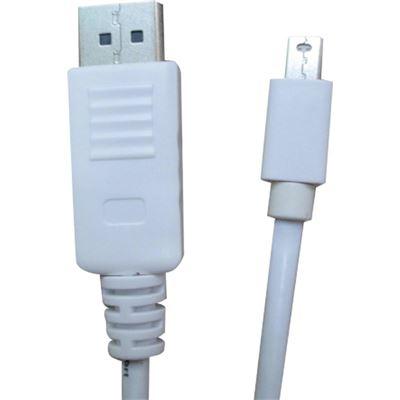 8 Ware 8Ware Mini DisplayPort to DisplayPort Cable M-M 2m