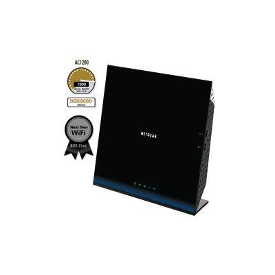 Netgear D6200 WiFi Modem Router 802.11ac Dual Band Gigabit, 2.4Ghz + 5 GHz 300+ 867 Mbs