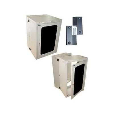 "E-TEC 19"" WALL MOUNT ENCLOSURES with Lockable Perspex Door and Swing Frame (18U x"