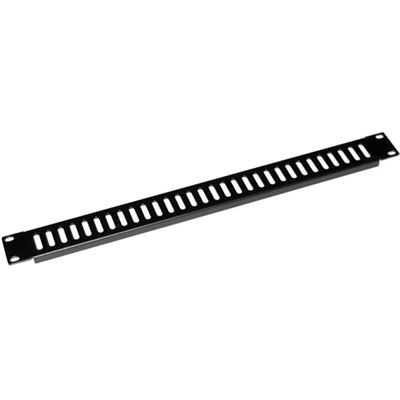 Dynamix AV Rack 1RU metal blanking panel with vented holes,with #10-32 screw and #10-32