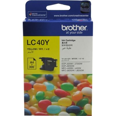 Brother LC40Y Ink cartridge yellow 300 pages 5%