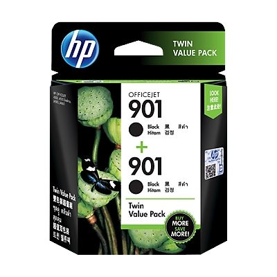 HP 901 Black Ink Cartridge Twin Pack