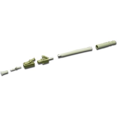 DYNAMIX LC Fibre Multimode  Connector with 3mm boot. Colour Beige