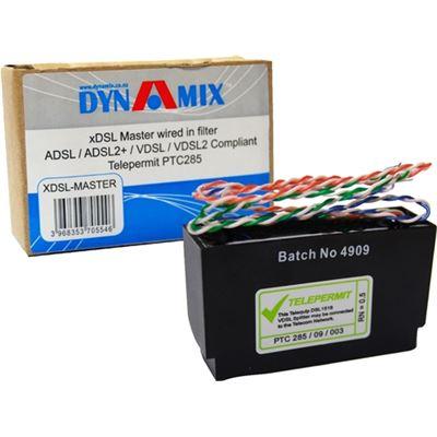 DYNAMIX XDSL Master Wired in filter , ADSL/ADSL2+/VDSL/VDSL2. Telepermitted & Ch