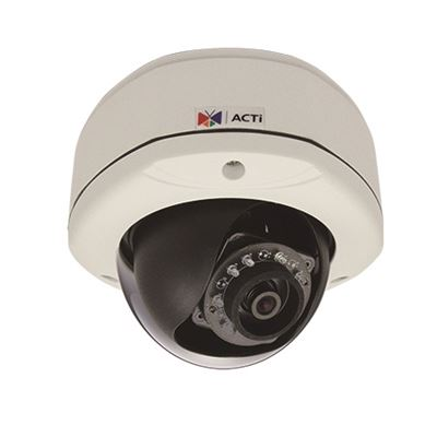 ACTi 3MP Indoor/Outdoor, Day/Night Dome Camera, IR, WDR, DNR, MicroSDHC, PoE, IP66