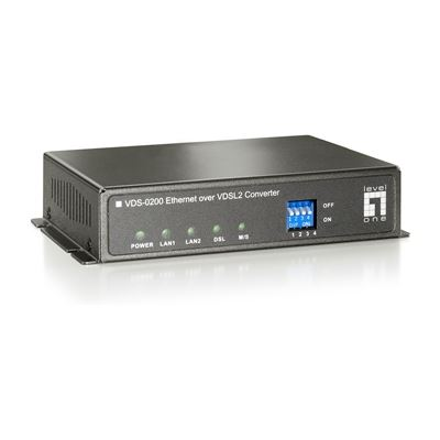 Level One Ethernet over VDSL2 Extender, switchable CPE/CO modes