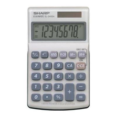 Sharp CALCULATOR EL240SAB 8 DIGIT SOLAR
