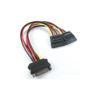 8 Ware SATA Power Splitter Cable 1 x 15 pin M - 2 x 15 pin F 15cm