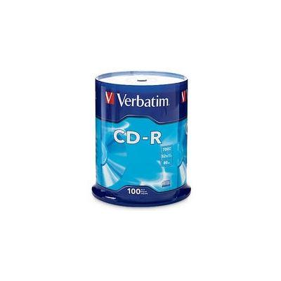 Verbatim CD-R 100pk Spindle - 52x 80 Min P-Cyanine
