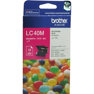 Brother LC40M Ink cartridge magenta 300 pages 5%