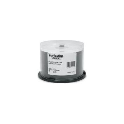 Verbatim CD-R 50pk Spindle - IJ Printable Wide - 52x 80min Blue Azo