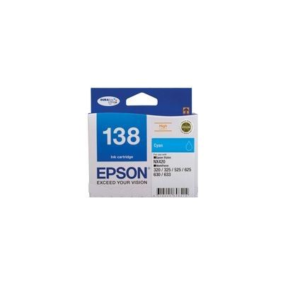 Epson 138 High Capacity Cyan ink cartridge Workforce 840 633 630 625 525 60 325 320