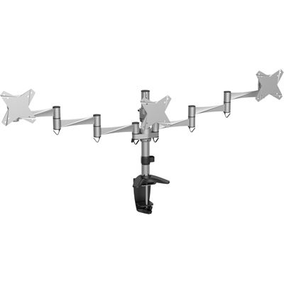 "Brateck 13-21.5"" Triple LCD Desk Mount. Max arm reach: 858mm. Tilt:-+15deg. Swivel"