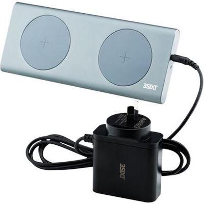 3SIXT Aluminium Dual 15W x 2 Qi Wireless Charge Pad - Grey