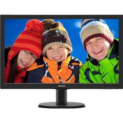 Philips 23.6 16:9 VGA/DVI/HDMI/Vsea Mount/Speakers Lower Power LED 1920x1080 Black