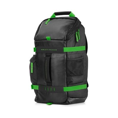 HP 15.6 Odyssey Black/Green Backpack