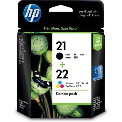 HP 21/22 Combo Pack Ink Cartridge