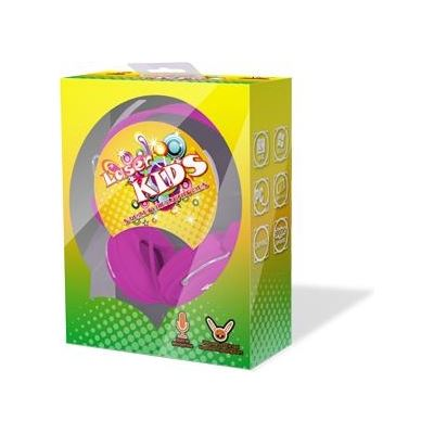 Laser Kids Stereo Headphones Friendly Colourful Pink