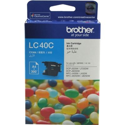 Brother LC40C Ink cartridge cyan 300 pages 5%