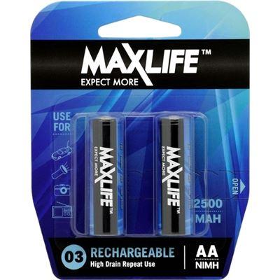 Maxlife AA Rechargeable Battery NIMH 2500MAH 2 Pack