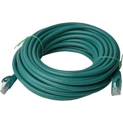8 Ware Cat 6a UTP Ethernet Cable; Snaglessÿ - 40m Green