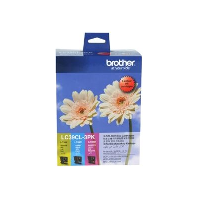 Brother LC39cl3pk includes separate cartridges of lc39magenta lc39cyan lc39yellow each