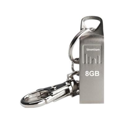 Strontium Technology Strontium 8GB USB Flash Drive Ammo Series Silver Shiny metal finish USB2.0