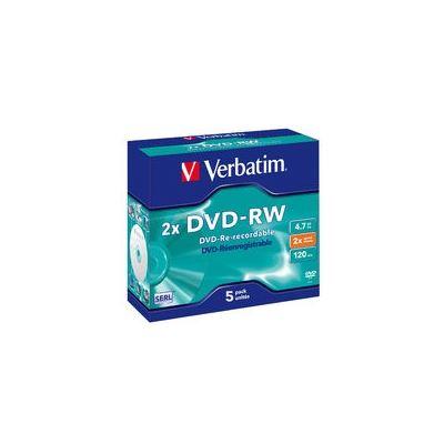 Verbatim DVD-RW 5pk Jewel Case 2x