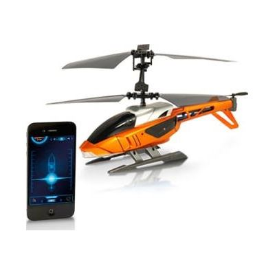 BrightPoint Siliverlit Blu-Tech Helicopter for iPad, iPhone and iPod touch - Orange - iOS