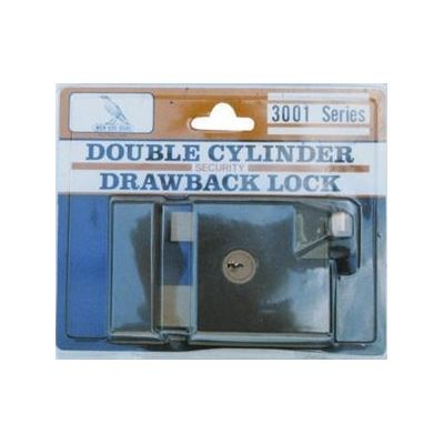 Buy Wren Bird *3001 Rim Lock Double Cylinder Brown Narrow (LOCR-N) |  Acquire (NZ)