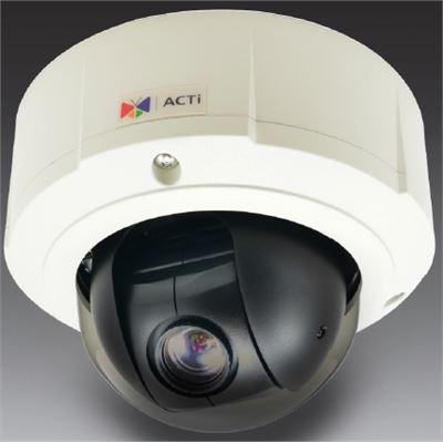 ACTi 5MP Indoor/Outdoor, Day/Night Mini PTZ Camera, WDR, 10x Zoom lens, DNR , Audio